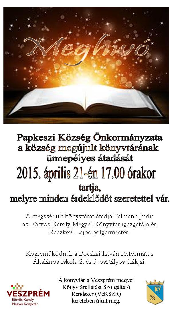 Papkeszi Község könyvtárának átadása